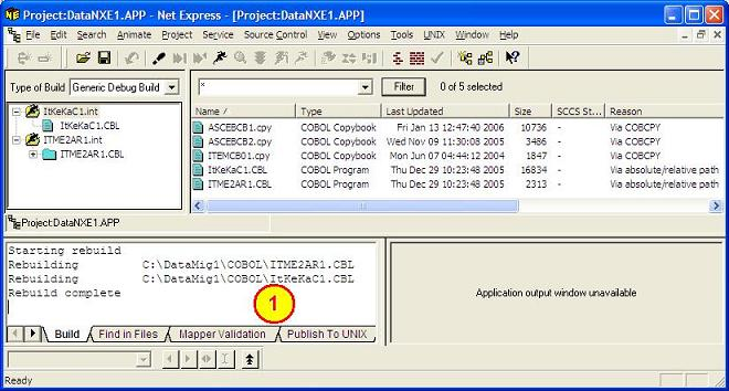 Net Express, Compile the Programs