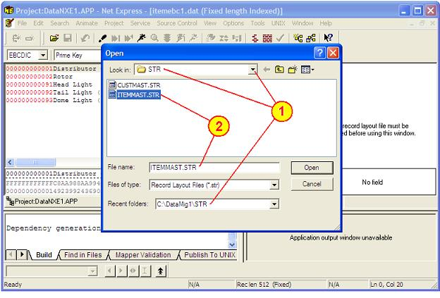 Net Express, Structure Files and Data File Editor